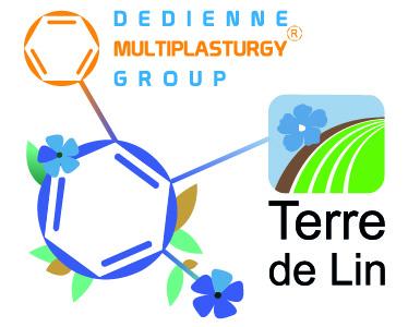 Flaxcomp est le fruit du partenariat de Dedienne Muliplasturgy® Group et Terre de Lin